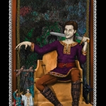 Dark Alliance: Morigan's Brood Book III front cover, drawn by Khanada Taylor