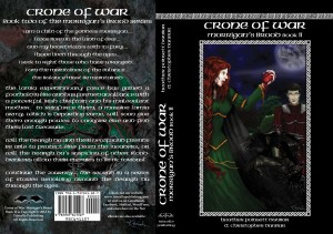 New cover for Crone of War: Morrigan's Brood Book II