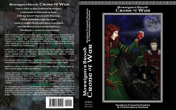 Old cover for Morrigan's Brood: Crone of War