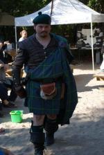 Author Christopher Dunbar in a kilt